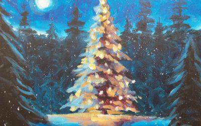 "Paint & Sip ""Silent Night"" Dec. 20, 2019 6:30PM"
