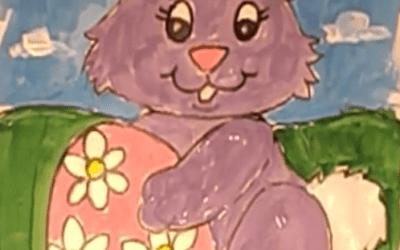 Easter Bunny Painting Tutorial by Gerald Van Scyoc
